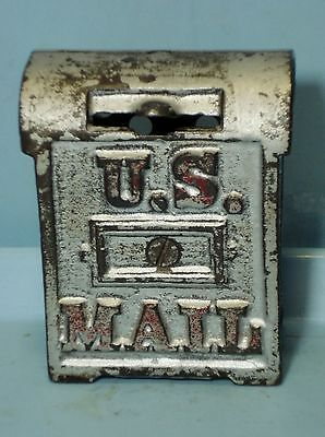 """""""U.S. Mail"""" Cast Iron Bank Made by Kenton? 3 3/8""""  USA 1920's Excellent"""