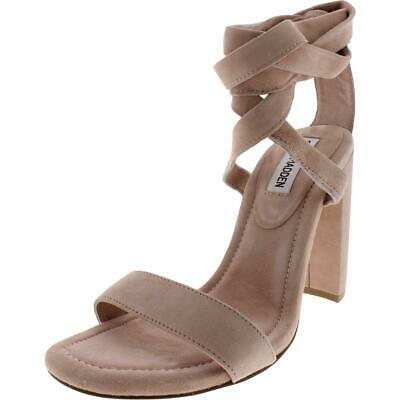 829632ae1f9 Steve Madden Womens Cosmic Suede Block Heel Dress Sandals Shoes BHFO 0357