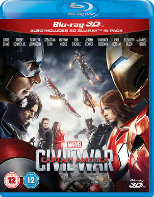 Captain America: Civil War DVD (2016) Chris Evans ***NEW***
