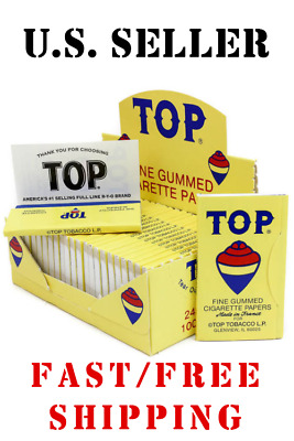 TOP Single Wide Rolling Papers - 100 PAPERS - Fine Gummed Cigarette RYO Tobacco