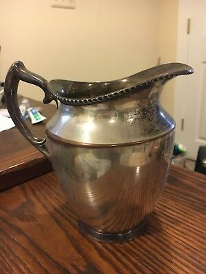 Antique Silver plated Water Pitcher Poole EPC 1023