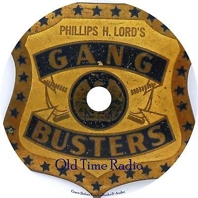 Gang Busters Old Time Radio Show OTR 90 Episodes on 1 MP3 CD Free Shipping