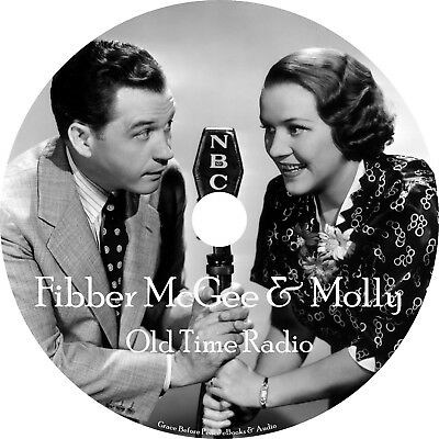 Fibber McGee Molly Old Time Radio Show OTR 1100+ Episodes on 2 MP3 DVD Free Ship