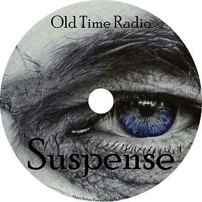 Suspense Old Time Radio Shows OTR 950+ Episodes on 2 MP3 DVDs Free Shipping