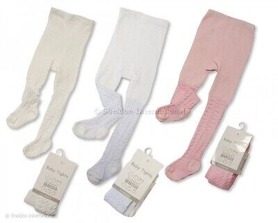 premature Baby Girl Tights Pink White Cream Tiny Baby 5-8lbs NB 0-3 3-6 months