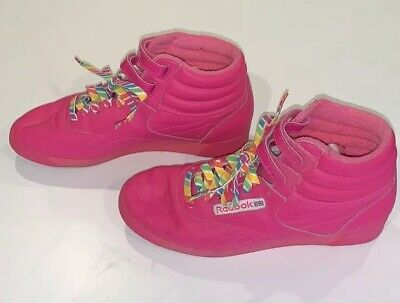 0c34e914b3415 Reebok Classic Vintage Style Pink High Tops Sneakers Women s 7.5 Shoes