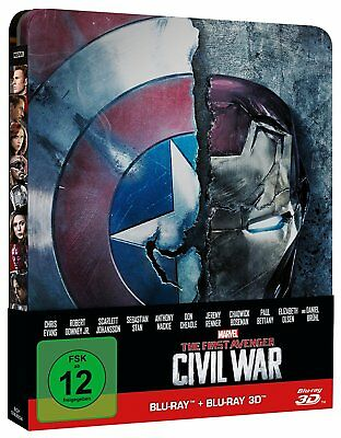The First Avenger - Civil War 3D -  Captiain America 3 - Steelbook / Blu-Ray +2D