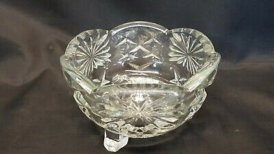 60s Pressed Glass Vintage Sugar Bowl