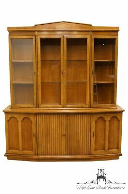 """AMERICAN OF MARTINSVILLE Italian Neoclassical Tuscan Style 70"""" China Cabinet ..."""