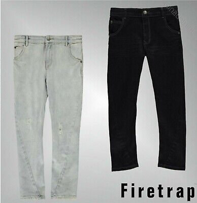 Boys Firetrap Slouch Fit Belt Loops Zip Fly Slouch Jeans Sizes Age 4-13 Yrs