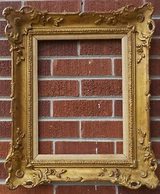 Vintage FRENCH Louis STYLE Wood & GOLD Compo Picture FRAME 12 x 16 in. fit