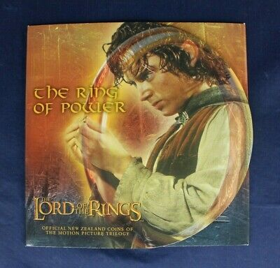 """2003 New Zealand $1 coin """"Lord of the Rings"""" in Folder    (AC2/77)"""