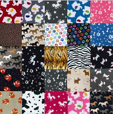 Animal Print Winter Premium Warm Anti Pill Polar Fleece Soft Fabric Material H.Q
