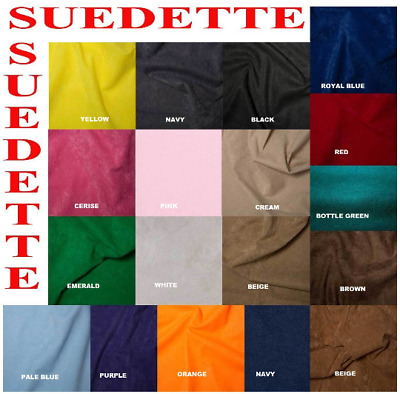 Suedette 18 Colour Craft Polyester Faux Suede Look Upholstery DressmakingFabric