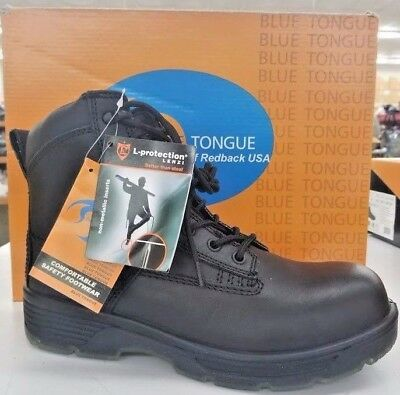 Blue Tongue Protector CT Black Boots Sizes 8.5 & 7 w/ Steel Toe