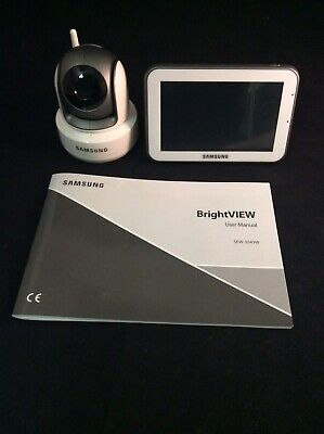 """SAMSUNG BRIGHTVIEW Wireless Pan Tilt ZOOM VIDEO BABY MONITOR. 5"""" Touchscreen LCD"""