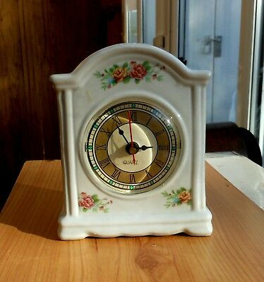 Lovely Ceramic mantle clock in superb working condition.