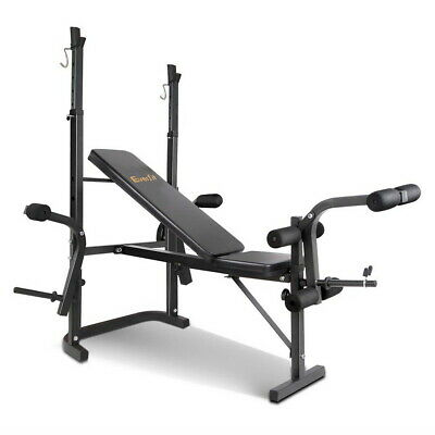 Multi-Station Weight Bench Press Curl Home Gym Weights Equipment Flat @TOP