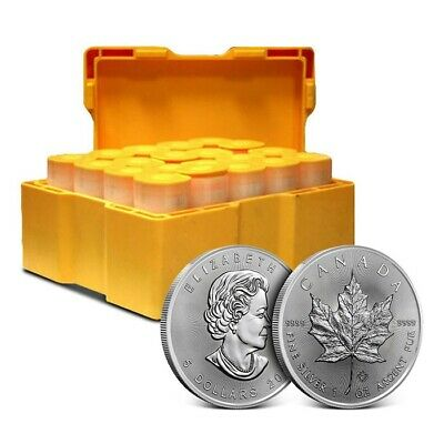 2019 Canadian Silver Maple Leaf 1 Oz Monster Box of 500