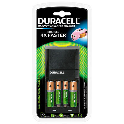 Duracell CEF27 Rapide Chargeur + 2 Aa + 2 Piles Rechargeable AAA Nouveau UK