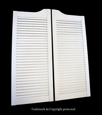 "CAFE DOOR WHITE LOUVERED 24"" 28"" 30"" 32"" or 36""W **SCRATCH & DENTS** Saloon Bar"