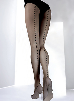 12d964d0e9e20 Obsession Corazon Fiore 20 Denier Sheer To Waist Tights Heart Pattern 3  Sizes.