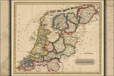 Poster, Many Sizes; Map Of Holland 1817