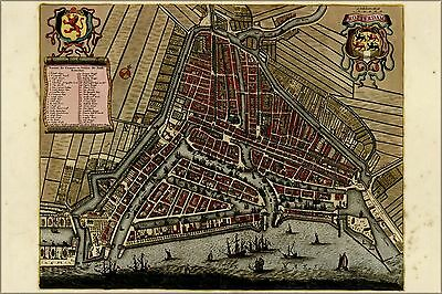Poster, Many Sizes; Map Of Rotterdam, Holland, Netherlands 1709
