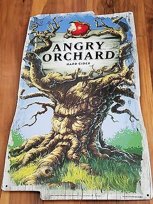 Angry Orchard Hard Cider Beer Brewery Tin Bar Sign