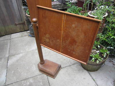 A rare Victorian or Edwardian oak hospital overbed invalid table