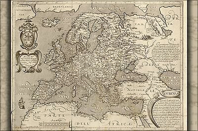 Poster, Many Sizes; Map Of Europe 1600 In Latin