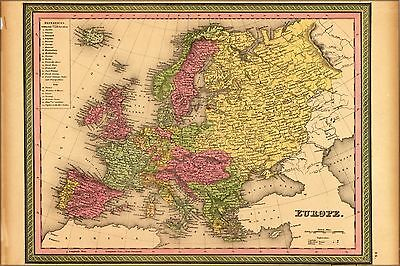 Poster, Many Sizes; Map Of Europe 1849