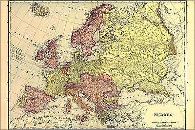 Poster, Many Sizes; Map Of Europe 1898