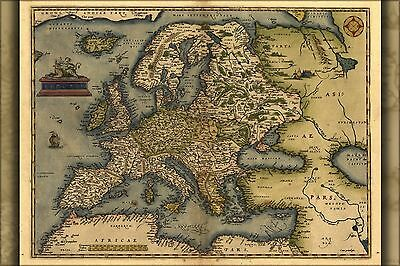 Poster, Many Sizes; Map Of Europe By Abraham Ortelius 1571