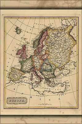 Poster, Many Sizes; Map Of Europe 1817