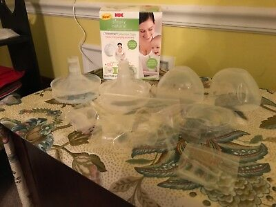 NEW~NUK Simply Natural Freemie Collection Cups~Breast Pump Accessory Kit