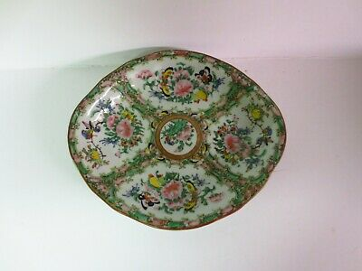 Antique Chinese Rose Medallion serving dish/bowl  early