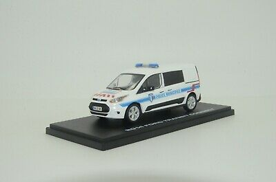 RARE !!! Ford Transit Connect France Police Municipale Custom Made 1/43