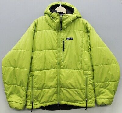 best sneakers e19bb 8cfec PATAGONIA DAS PARKA Men's Jacket Hoodie Light Green Acid Green Size M Y17A