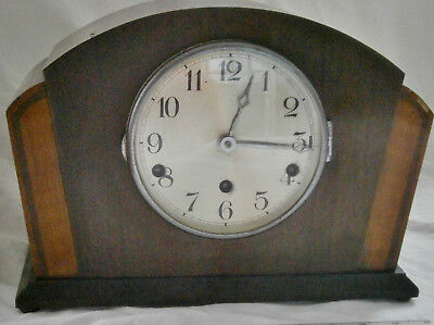"""Westminster Chime """"Bracket"""" Mantle Clock Fully Working With Pendulum"""