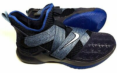 new product 3279c 61a60 NIKE LEBRON SOLDIER XII AO2609 401 Size 11 Anchor Blackened Work Gym Blue  New