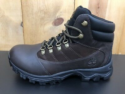d46546db NEW Timberland 9810R Rangeley Mid Brown Leather Hiking Mens Size 8.5 M Boots