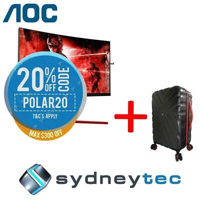 New AOC AGON AG273QCG 27in QHD 1ms 165Hz Curved Gaming Monitor + Travelling Suit