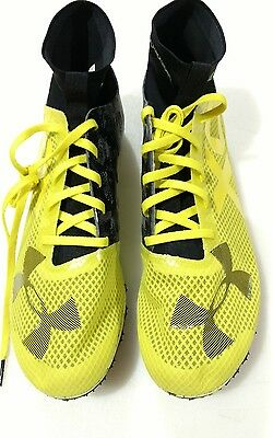 3a01fce17c UNDER ARMOUR UA Charged Bandit XC Spike Cross Country Shoes SZ 11.5  Yellow/Black