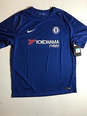 outlet store 38726 1ce85 NIKE 2017-2018 CHELSEA FC Soccer Football Club Blue Stadium Jersey Size XL