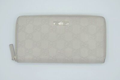 fe1bed69d32 AUTHENTIC GUCCI OFF White Guccissima Leather Continental Zip Wallet ...