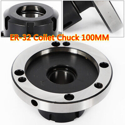 ER-32 Collet Chuck 100MM DIAMETER Compact Lathe Tight Tolerance For Milling USA