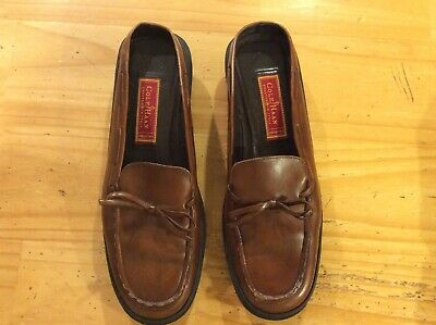 e3983533c5b Cole Haan Womens Shoes 9B Brown Leather Crafted In Italy Country Slip On  Loafers