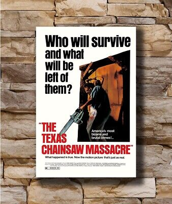 Hot THE TEXAS CHAINSAW MASSACRE Movie Horror Leatherface New Art Poster T-2510