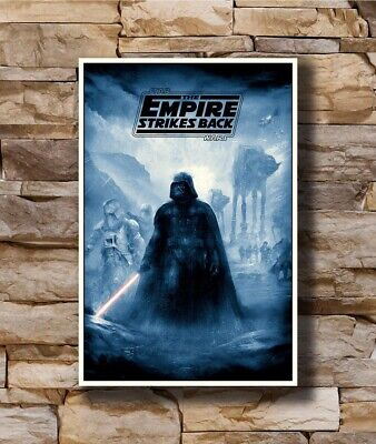 Hot Star Wars Empire Strikes Back Darth Vader Movie New Art Poster 24x36 T-2450